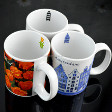 China manufacturer promotional sublimation 12 oz cone color change mug