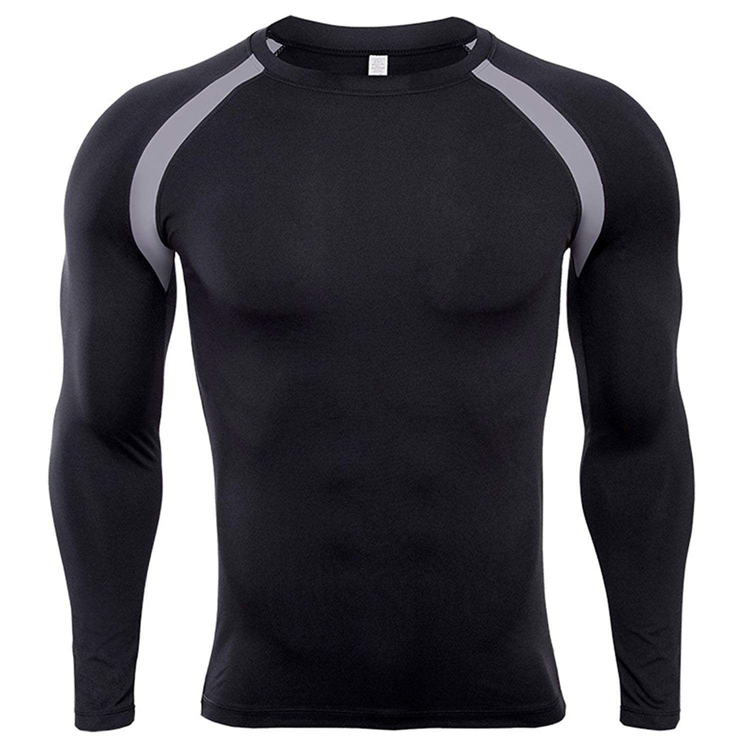 Get Quotations · SEVENWELL Men s Dri Fit Compression Shirts Long Sleeve Gym  Workout Fitness Base Layer Breathable Tops M a048327c60f25