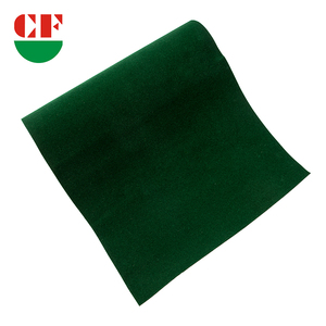 Making Glasses Case Material In Inky Green Self-Adhesive Spunlace Flocking Fabric