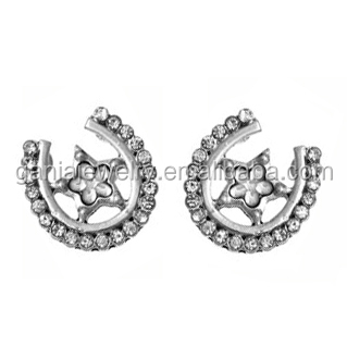 Vintage Jewelry, VIntage Horseshoe with Star Earrings