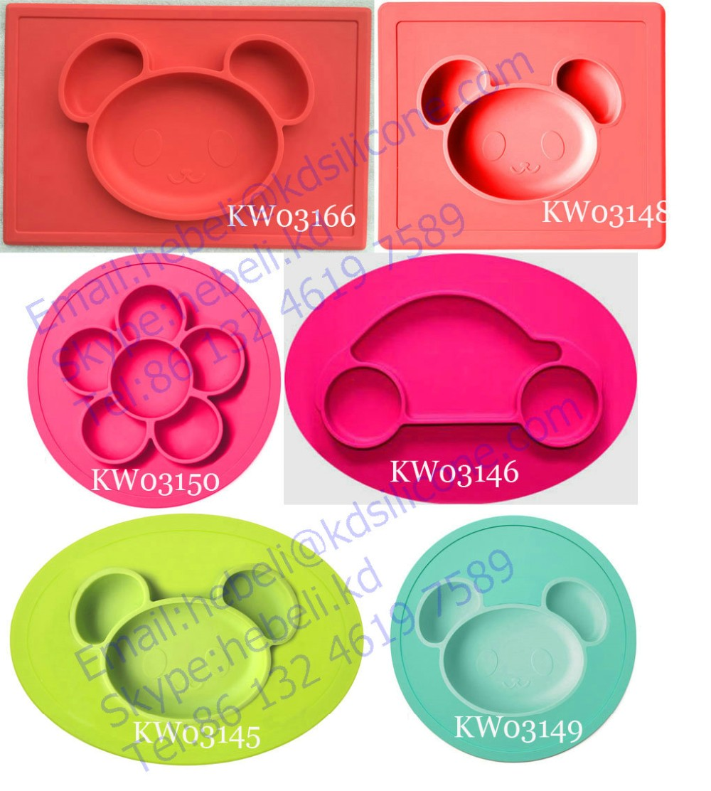 washable flexible silicone placematskids silicone placemat and  - washable flexible silicone placematskids silicone placemat and plate fdahappy bear placemat
