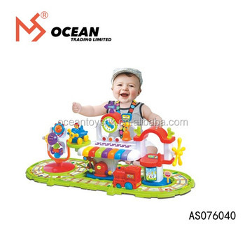 Electric plastic model railway toy train set from china