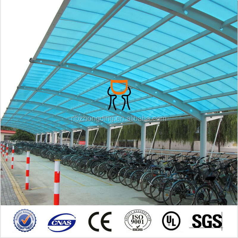 green house plastic/agriculture greenhouse twin wall PC hollow sheet price/ Polycarbonate roofing for greenhouse