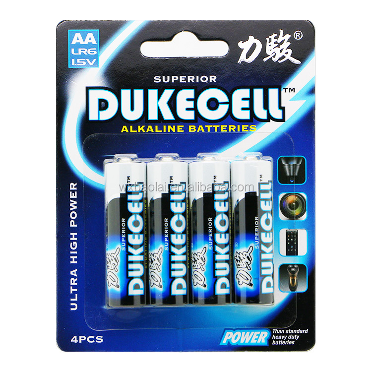 DUKECELL aa 1.5v mercury and cadmium free <strong>battery</strong>