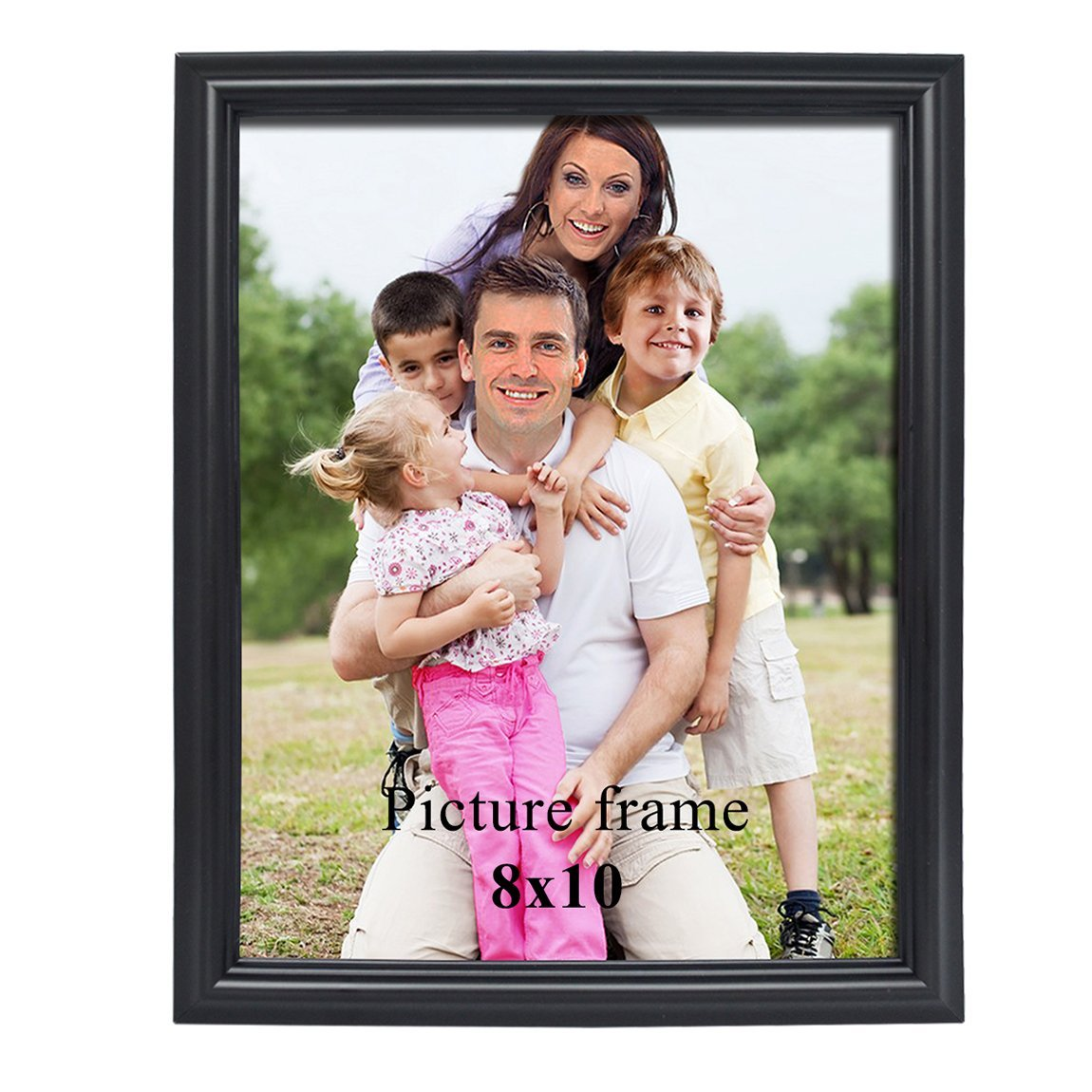 PETAFLOP 8x10 picture frame Black 8 by 10-inch Decorative Poster Frame