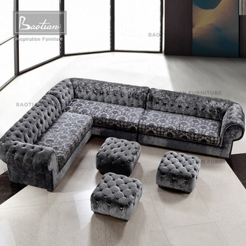Royal Furniture Modern Sofa Tufted Sofa With Crystal Buttons - Buy Sofa  With Crystal Buttons,Tufted Sofa,Royal Furniture Modern Sofa Product on ...