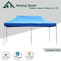 3X6M Waterproof PVC Aluminum Popup Heavy Duty Tent Exhibition Event Marquee Gazebo Folding Market Canopy Plastic Outdoor Shelter