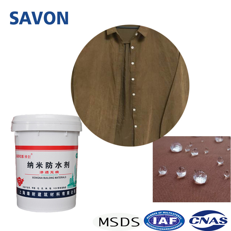 Nano super hydrophobic waterproofing liquid spray coating for Textile fabric shoe antifouling