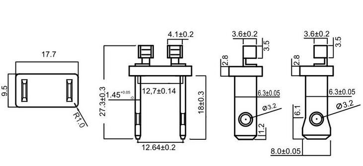 north american plug inserts electrical plug insert