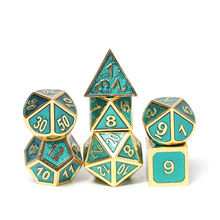 Chengshuo metallo <span class=keywords><strong>dadi</strong></span> rpg dungeons and dragons dnd poliedrici numero digitale <span class=keywords><strong>dadi</strong></span> 7 pcs trasparente verde <span class=keywords><strong>set</strong></span> d20 10 <span class=keywords><strong>6</strong></span> 8 4 giochi