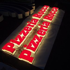 Acrylic 3d cheap large plastic full-lit letters sign