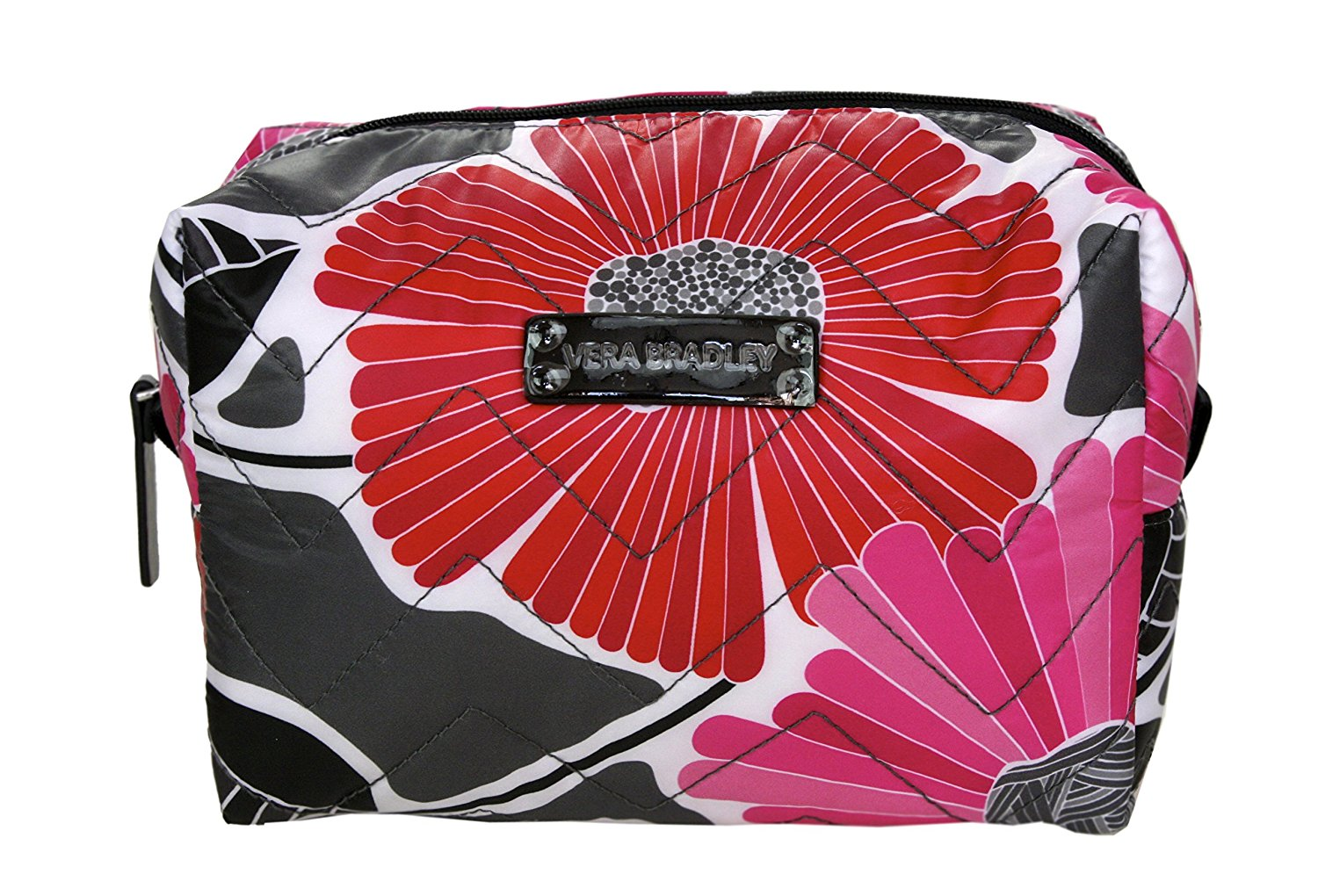 49b4ae0fcb Get Quotations · Vera Bradley Large Puffy Cosmetic Bag in Cheery Blossoms