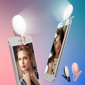 2018 hot selling selfie ring light led rechargeable 9 Led phone selfie ring light