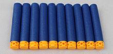 100 шт. полые мягкие наконечники 7,2 см, запасные дротики для серии Nerf, бластеры, новый стиль, детский игрушечный пистолет, клипсы, пули из ЭВА(Китай)