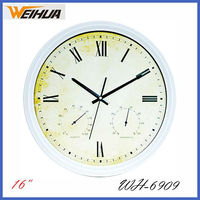 Decorative Clock White Frame Big Size Wall Clock