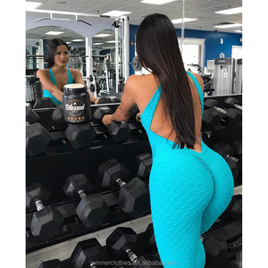 Women Fashion cross-border hot sale European and American buttocks sports wind pure color high-elastic honeyc Fitness Clothing