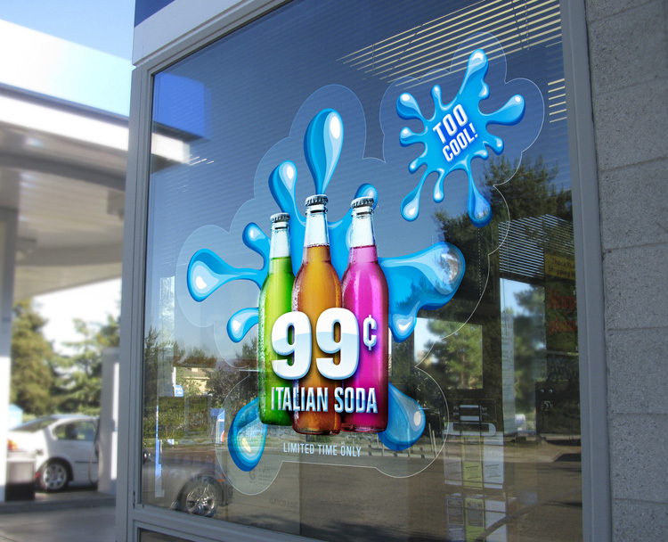 Digital printing advertising custom outdoor vinyl sticker pvc window film bumper sticker