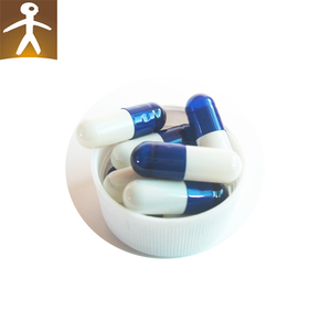 High quality hard gelatin colored blue white printed empty capsules