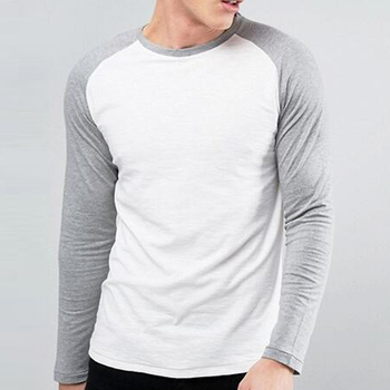 Bodybuilding Exercise Mens Reglan Two Color Long Sleeve T Shirt ... d8cd65fd023