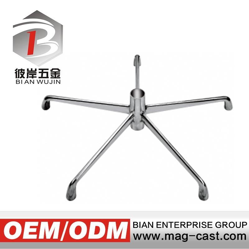 Die Casting Aluminum Swivel Chair Parts Base Leg