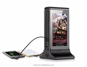 Shenzhen video play advertisement 2017 restaurant menu power bank for restaurant/coffee shop/bar