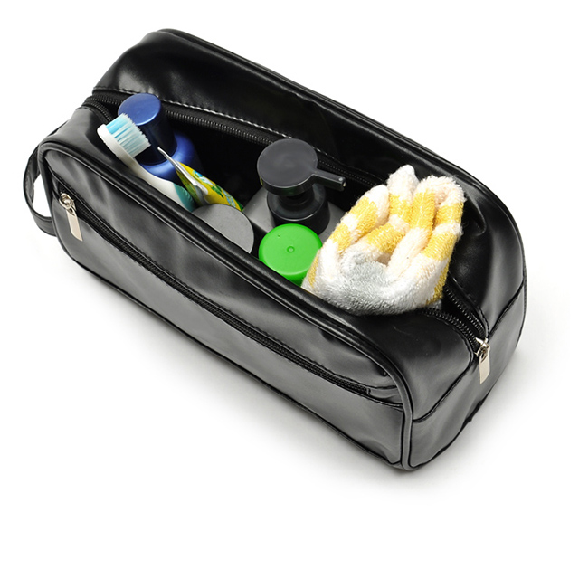2020 costom leather cosmetic pouch cosmetic travel case travel wash bag