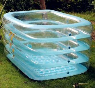 Enfants en plastique rectangulaire piscine baignoire for Piscine plastique