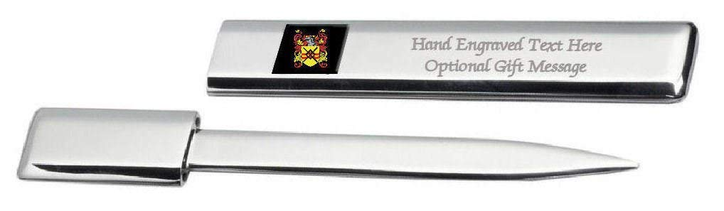 Macdonald Family Crest Surname Coat Of Arms Engraved Letter Opener