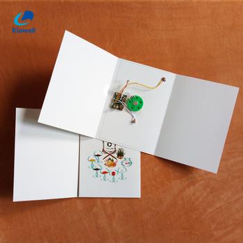 Personnalisé Blanc Enregistreur Vocal Carte Cadeau Enregistrable Carte De Voeux Buy Carte De Voeux Enregistrable Sonorecarte Cadeau Enregistreur