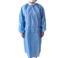 Different sizes disposable nonwoven SMS reinforced medical doctor gowns 40/45/55g