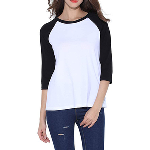 e7635593c78c Wholesale Cotton Crew Neck 3/4 Sleeve Jersey Shirt Baseball Tee Raglan T  Shirts 95