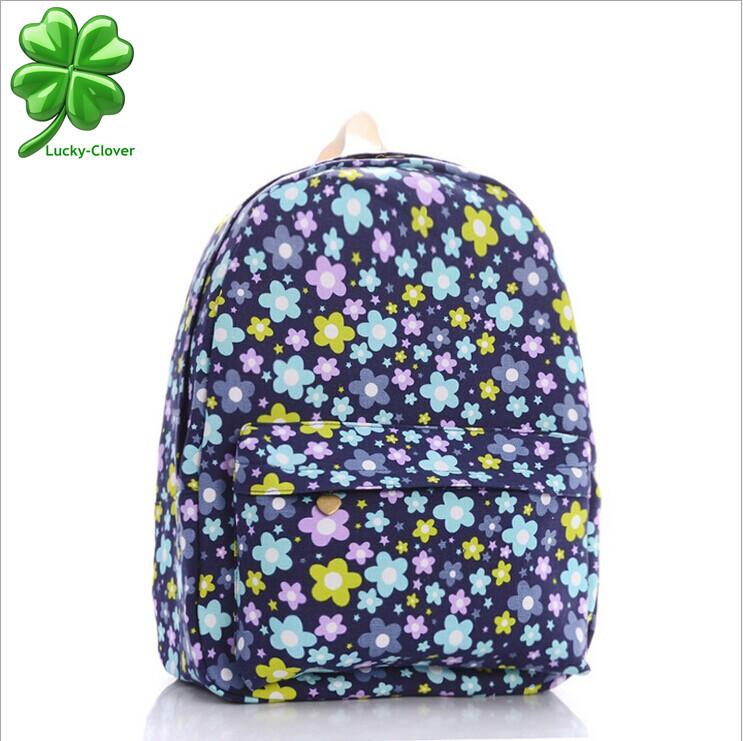 Buy Japan and Korean style Women Fresh Blue Sun Flower printing Backpack  Preppy school bags bookbag girls canvas vintage backpacks in Cheap Price on  ... 02f657347be36