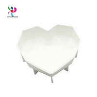 Durable silicone ice cube tray, washable rubber heart shaped cake ice mold