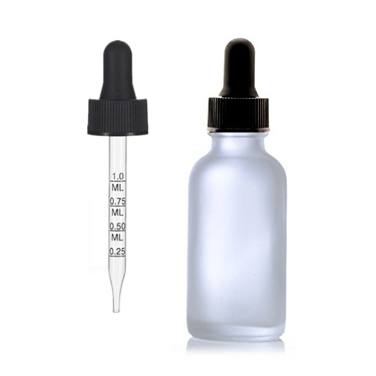 9f9e7bce0a4f 1 Oz Clear Frosted Glass Bottle W/black Calibrated Glass Dropper With  Measurement Marking - Buy Frosted Glass Bottle,Boston Round Glass  Bottle,1oz ...