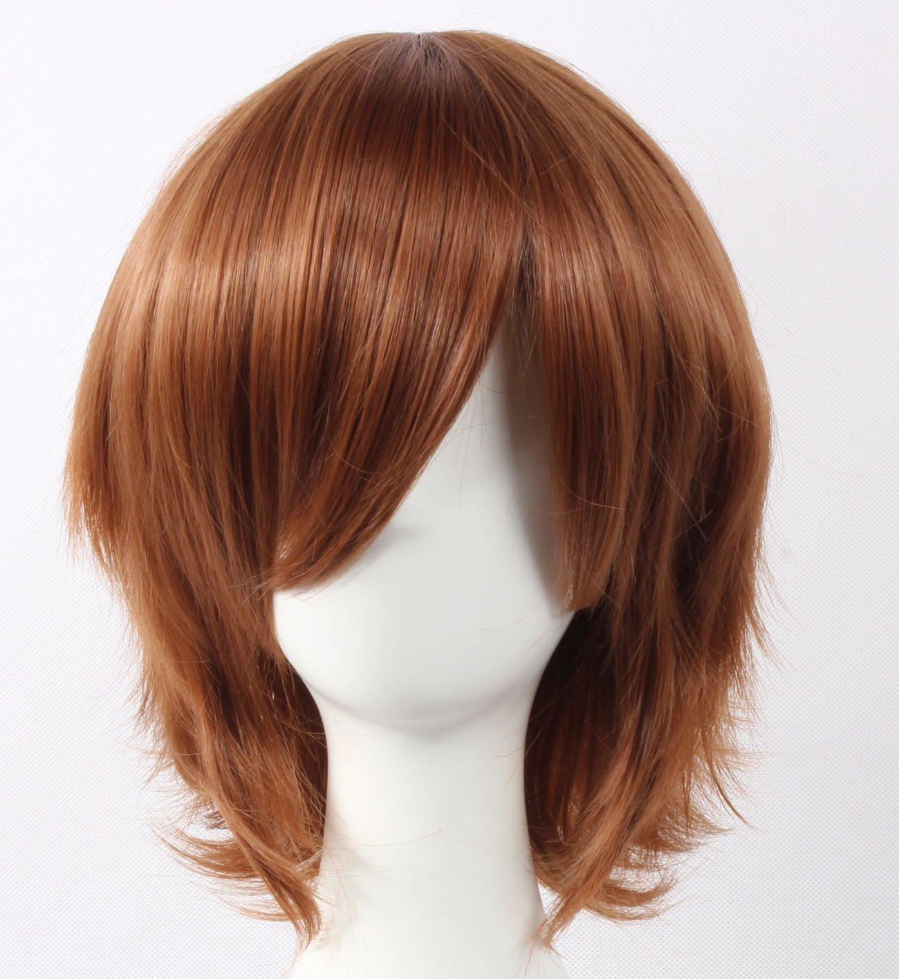 Coolsky Wig Dark Brown Wig Medium Dark Brown Straight Wig Suzuya Tohzuki Star