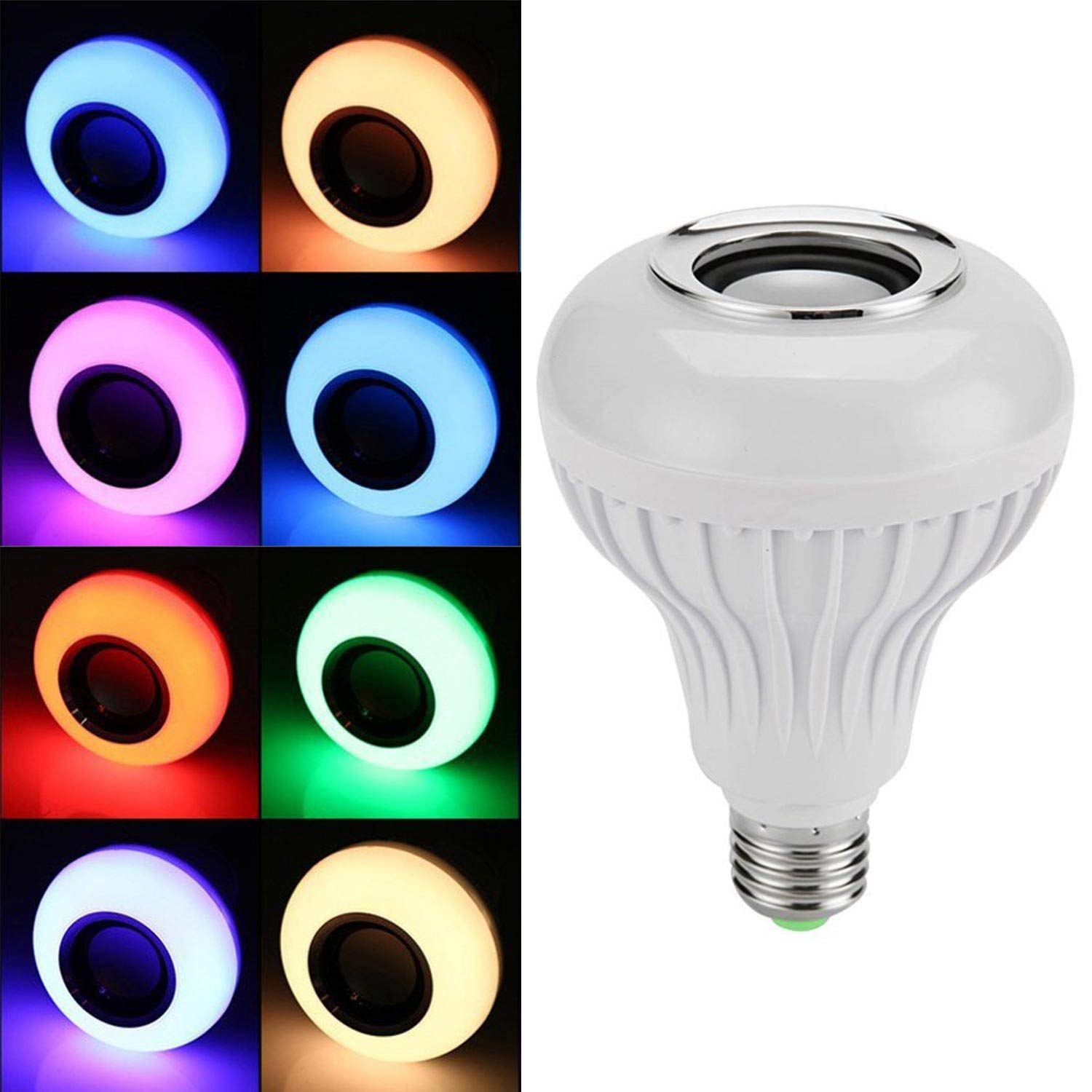 Bluetooth Light Bulb Speaker, CoreLife Color Changing LED Light Bulb with Speaker and Remote Control (7W - E26 / E27)