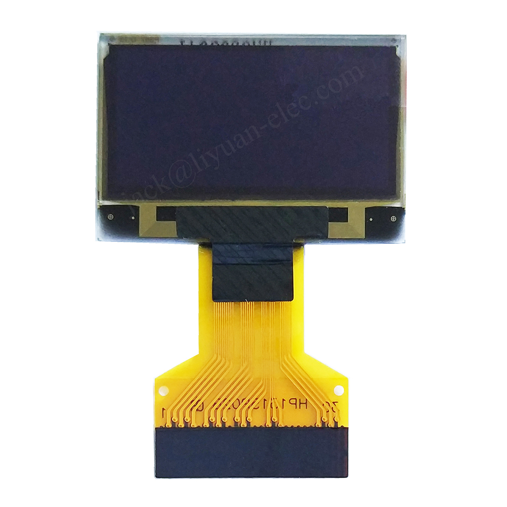 0.96 oled white 12864 128x64 p0.5 0.5mm FPC micro oled display screen