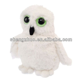 Stuffed White Owl Cute Baby Plush Toy With Glow In The