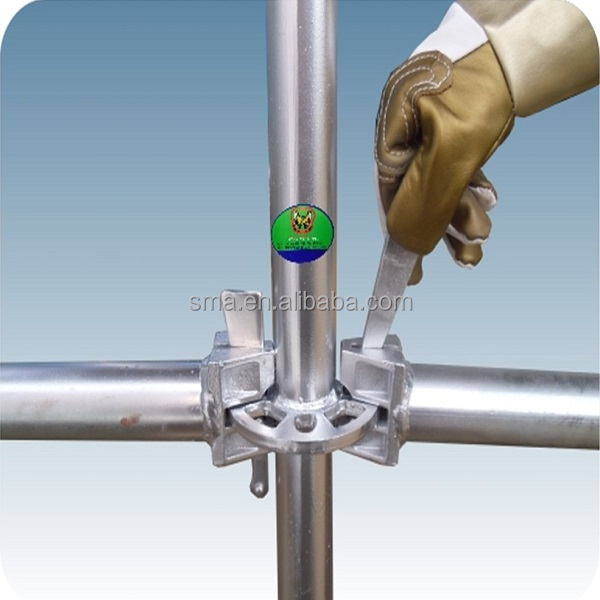 Used Hop Dip Galvanized Layher Steel or Aluminum ringlock system Scaffolding for outdoor inside supporting Construction