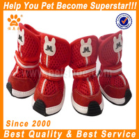 JML 2016 high quality summer casual pet shoes in red fabric cat and dog shoes boots