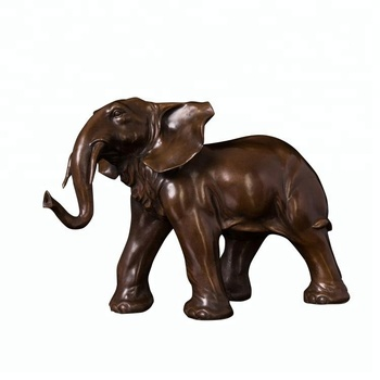 Home Decor Metal Ornament Bronze Animal The Elephant Statue