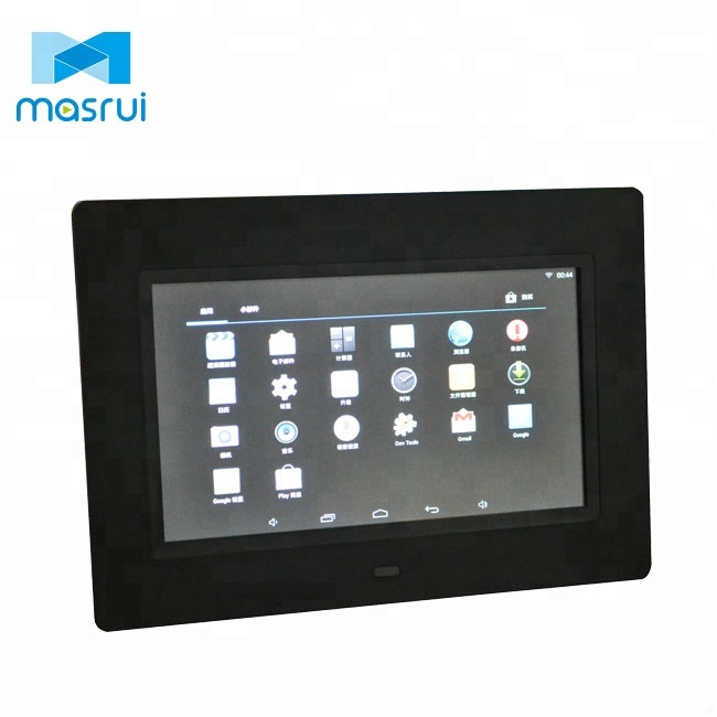 Video frame 7 transparent lcd display touch key digital photo