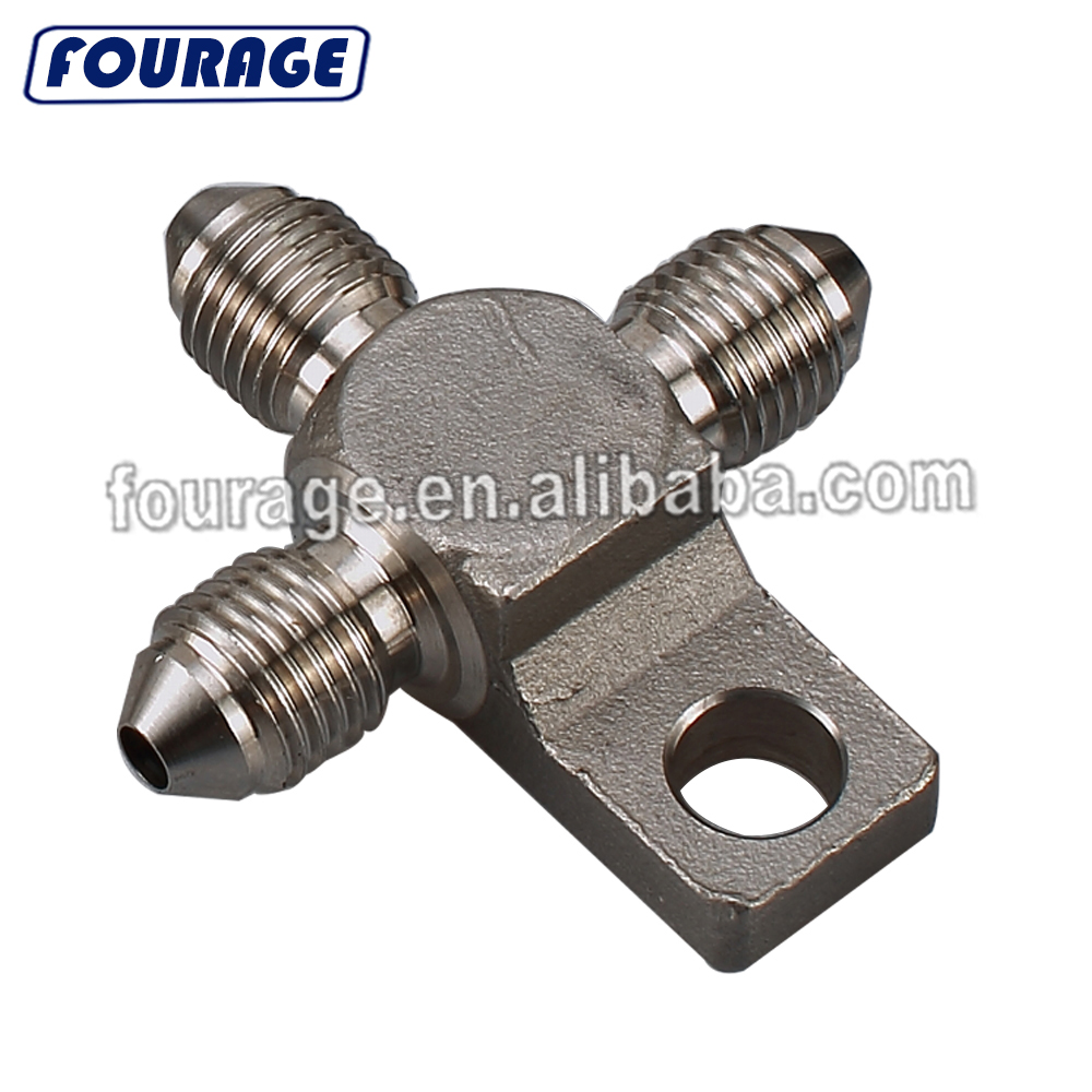 AN-3 3//8 x 24 UNF Stainless Steel 45 Degree Brake Swivel Hose Ends Fitting JIC 3