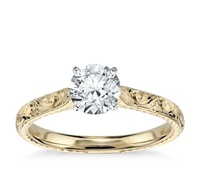 1PCS solid gold hawaii style customized engagement ring