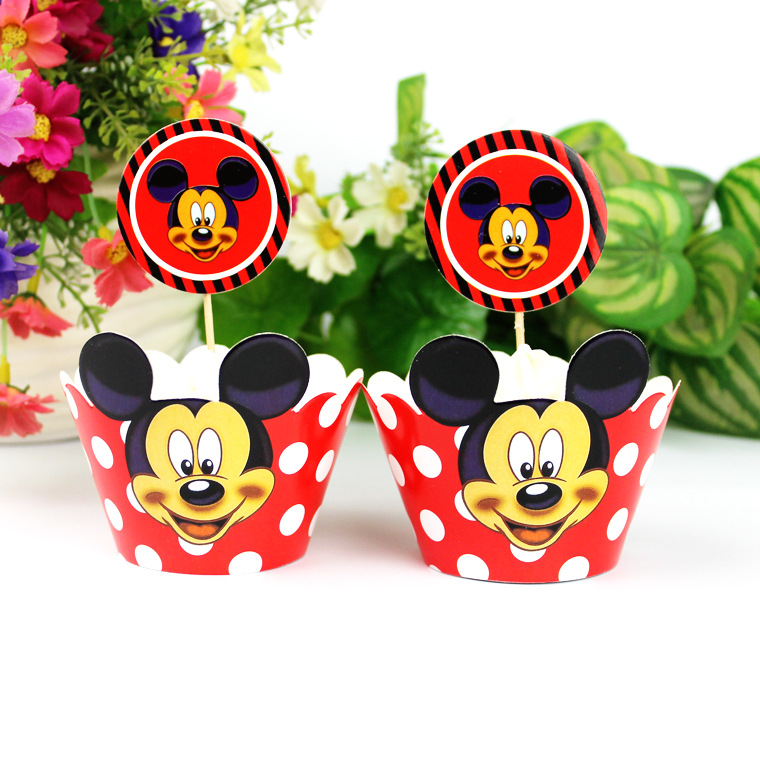 Cute Mickey mouse cake decorating topper for kids