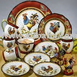 Chanticleer Rooster 40 Piece Dinnerware Set & Chanticleer Rooster 40 Piece Dinnerware Set - Buy Porcelain Product ...