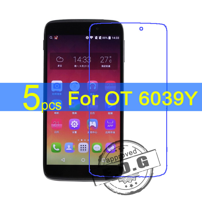 5pcs Ultra Clear LCD Screen Protector Film Cover For Alcatel One Touch Idol 3 OT 6039