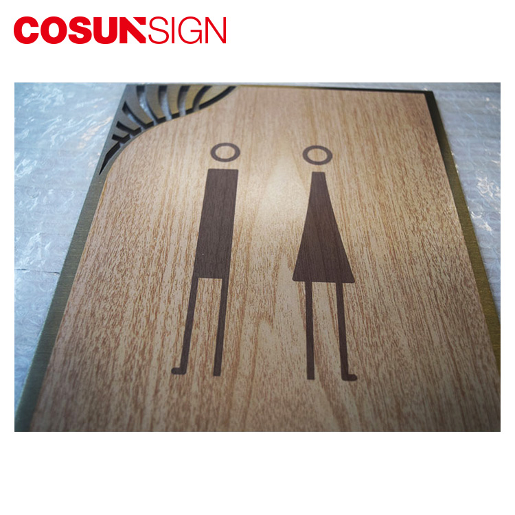 Cosun Sign High Quality Etched Plaque for Public Information Toilet WIFI Directional Sign