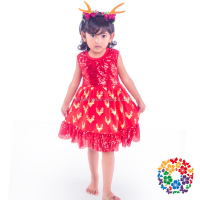 2016 Christmas Party Dress Kids Girls Cotton & Sequins Frock Designs 0-6 Years Old Baby Girl Frock Patterns