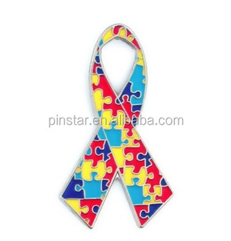 2017 Pinstar Wholesale Autism Awareness Multi-color Puzzle Piece Lapel Pins